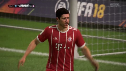 FIFA 18 - PSG vs. FCB Gameplay-Video